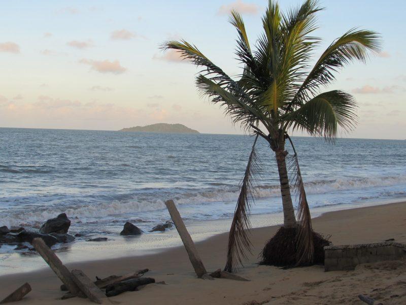 pláž francouzská guayana