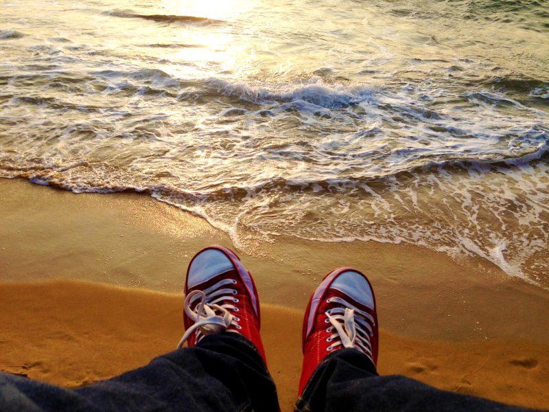 pláž boty