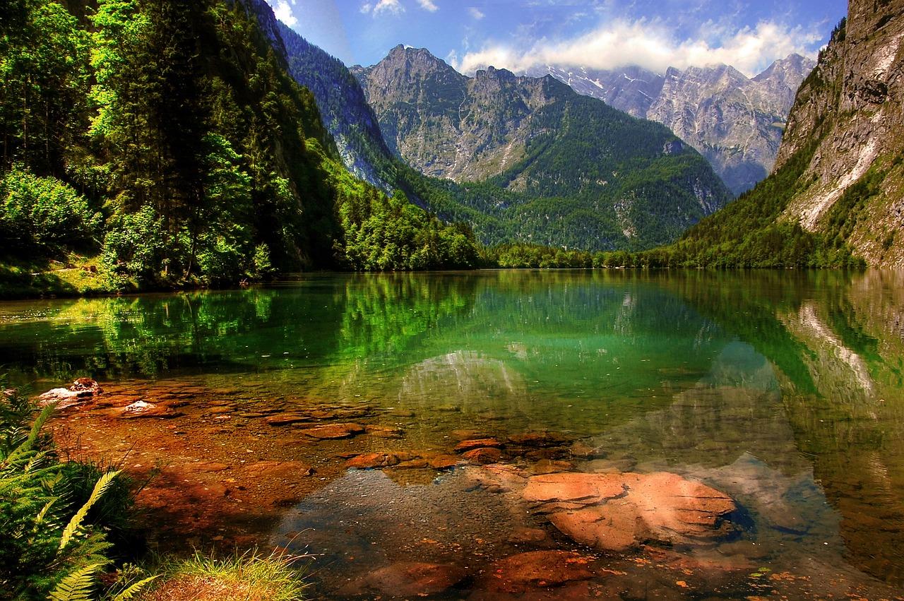V Německu najdete mnoho přírodních jezer.