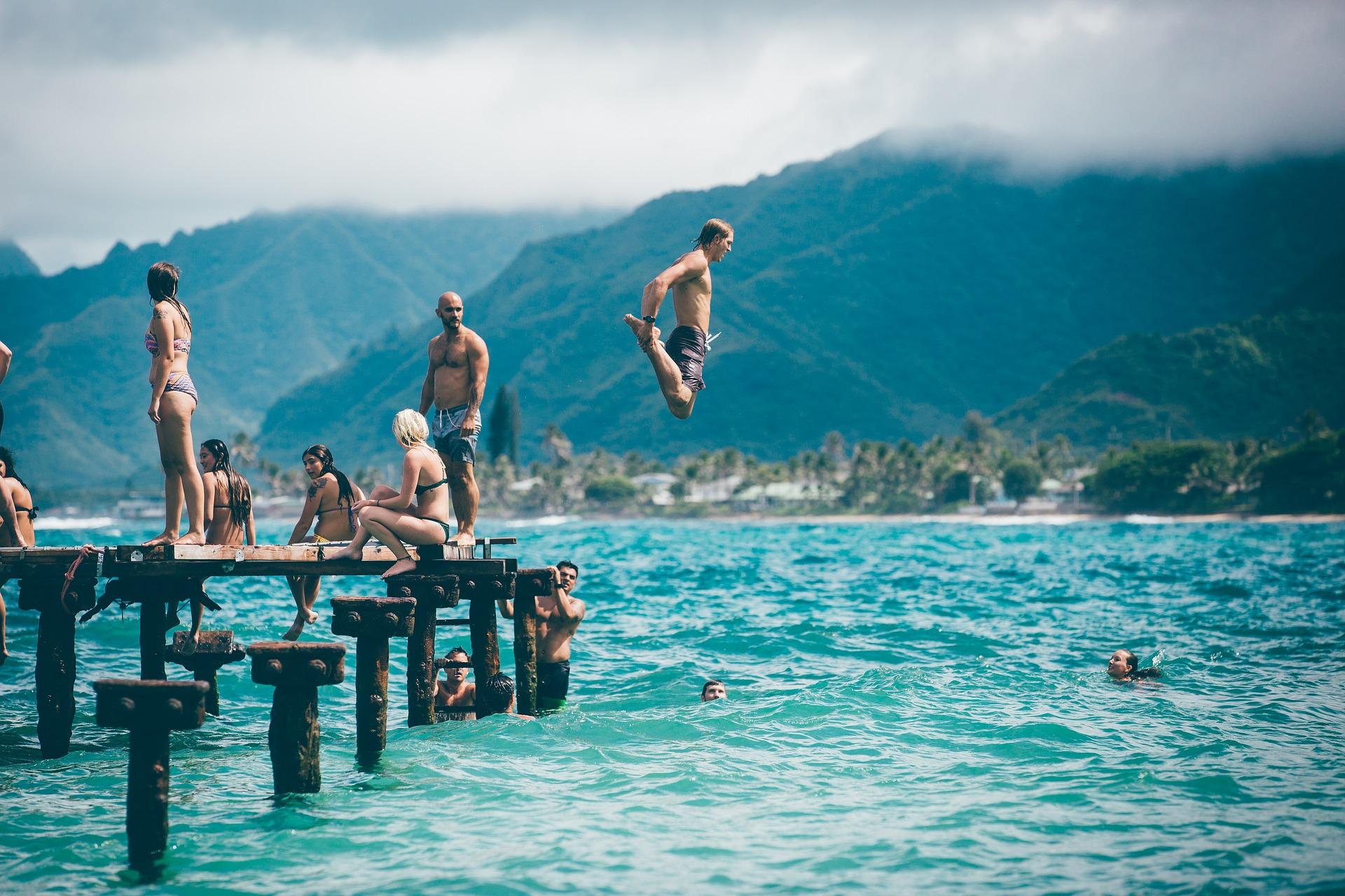 pláž a dobrodružství